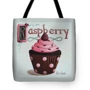 Raspberry Chocolate Cupcake Tote Bag by Catherine Holman