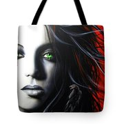 'Raven Vixon' Tote Bag by Christian Chapman Art