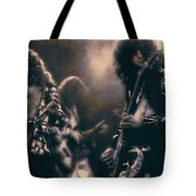 Raw Energy Of Led Zeppelin Tote Bag by Daniel Hagerman