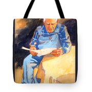 Reading Time Tote Bag by Kathy Braud