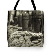 Ready For Work Black And White Sepia Tote Bag by Scott Campbell
