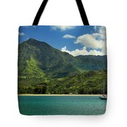 Ready To Sail In Hanalei Bay Tote Bag by James Eddy