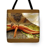 Reclining Nude Carrot Tote Bag by Sarah Loft