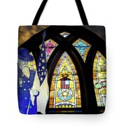 Recollection Union Soldier Stained Glass Window Digital Art Tote Bag by Thomas Woolworth