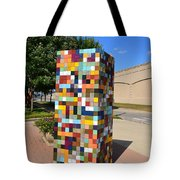Reconstructing Fences Tote Bag by Michelle Calkins