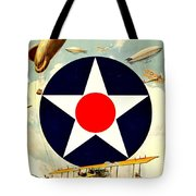 Recruiting Poster - Ww1 - Air Service Tote Bag by Benjamin Yeager