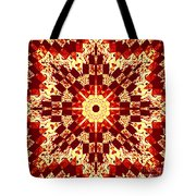 Red And White Patchwork Art Tote Bag by Barbara Griffin