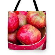 Red Apples In Baskets At Farmers Market Tote Bag by Teri Virbickis