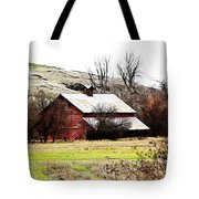 Red Barn Tote Bag by Steve McKinzie