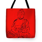 Red Buddha Tote Bag by Pamela Allegretto