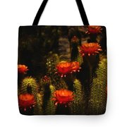 Red Cactus Flowers Tote Bag by Saija  Lehtonen
