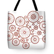 Red Circles Tote Bag by Frank Tschakert