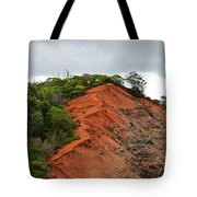 Red Cliff At Waimea Tote Bag by Christi Kraft