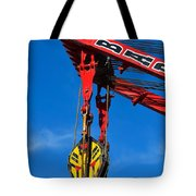 Red Crane - Photography By William Patrick And Sharon Cummings Tote Bag by Sharon Cummings