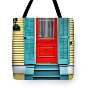 Red Door In New Orleans Tote Bag by Christine Till