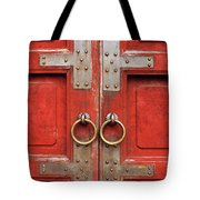 Red Doors 01 Tote Bag by Rick Piper Photography