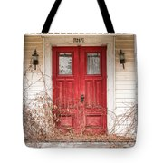 Red Doors - Charming Old Doors On The Abandoned House Tote Bag by Gary Heller