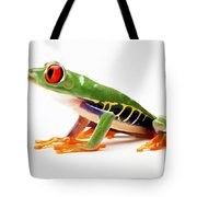 Red-eye Tree Frog 4 Tote Bag by Lanjee Chee