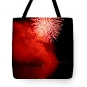 Red Fire Tote Bag by Martin Capek