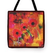 Red Flowers Tote Bag by Nedunseralathan R