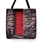 Red Grist Mill Door Tote Bag by Edward Fielding