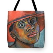 Red Hat Lady Tote Bag by Xueling Zou