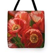 Red Ladies Of Summer Tote Bag by Carol Cavalaris