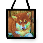Red Malamute Tote Bag by Jane Schnetlage