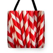 Red Paper Straws Tote Bag by Edward Fielding