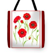 Red Poppies Tote Bag by Irina Sztukowski