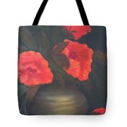 Red Poppies Tote Bag by Kay Novy