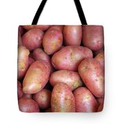 Red Potatoes Tote Bag by Carlos Caetano