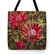 Red Proteas Tote Bag by Jen Norton