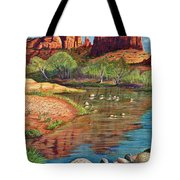 Red Rock Crossing-sedona Tote Bag by Marilyn Smith