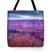 Red Rock Dusk Tote Bag by Mike  Dawson