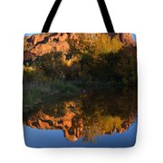 Red Rock Reflections Tote Bag by Mike  Dawson