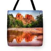 Red Rock State Park - Cathedral Rock Tote Bag by Bob and Nadine Johnston