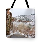 Red Rock Winter Drive Tote Bag by James BO  Insogna