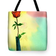 Red Rose 1 Tote Bag by Anil Nene
