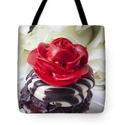 Red Rose Cupcake Tote Bag by Garry Gay