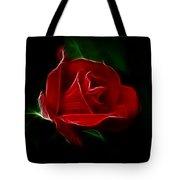 Red Rose Tote Bag by Sandy Keeton