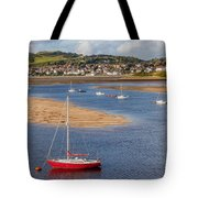 Red Sail Boat Tote Bag by Adrian Evans