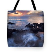 Red Sky Over Lanai Tote Bag by Mike  Dawson