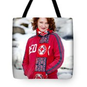 Red Sox Girl Tote Bag by Greg Fortier