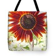 Red Sunflower Glow Tote Bag by Kerri Mortenson