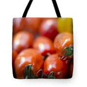 Red Tomatoes At The Market Tote Bag by Heather Applegate