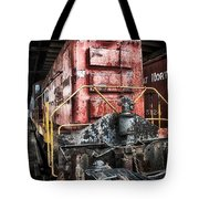 Red Train Tote Bag by Todd and candice Dailey