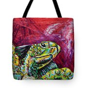 Red Turtle Tote Bag by Lovejoy Creations