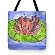 Red Waterlily Tote Bag by Lynn-Marie Gildersleeve
