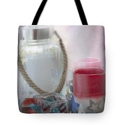 Red White And Blue Tote Bag by Judy Hall-Folde